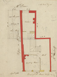 [Plan of property on Basinghall Street] 115I